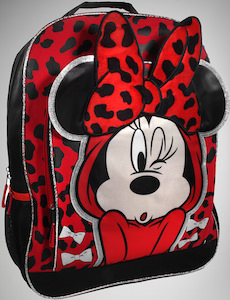 23f068d01b6 Disney Minnie Mouse Red Leopard Print Backpack