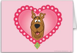 Scooby-Doo Heart Shape Greeting Card