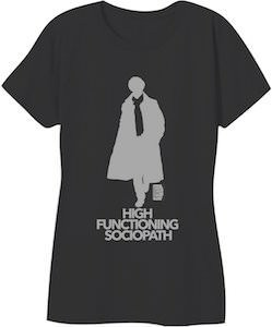 Women's Sherlock High Functioning Sociopath T-Shirt
