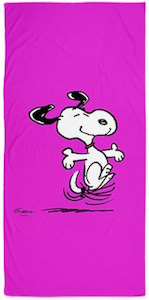 Purple Snoopy beach towel