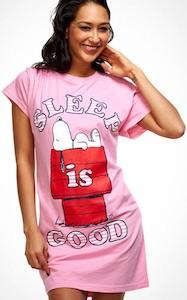 Pink Snoopy Sleep Is Good Women's Nightgown