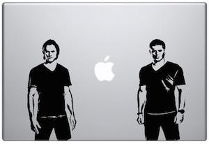 Supernatural Winchester Brothers Laptop Decal