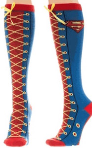 Superman Laced Up Socks