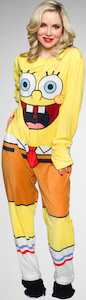 SpongeBob Squarepants Adult One Piece Costume Pajama
