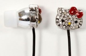 Hello Kitty Crystal Earbuds