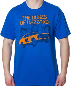 The Dukes Of Hazzard Head Shots T-Shirt