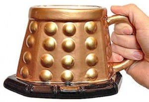 Doctor Who Gold 3D Dalek Mug