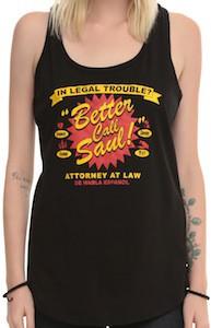 Black Better Call Saul Logo Tank Top
