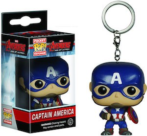 Avengers Captain America Pocket Pop! Keychain