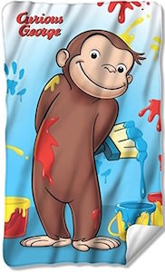 Curious George Painting Fleece Blanket