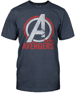 The Avengers Blue Logo T-Shirt