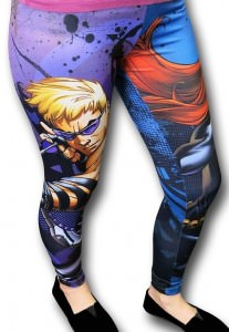 Avengers Hawkeye And Black Widow Leggings