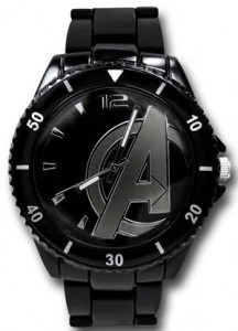 Avengers Logo Black Metal Watch