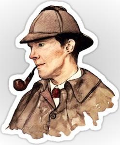 Classic Sherlock Sticker