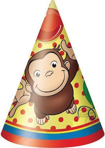 Curious George Cone Party Hats