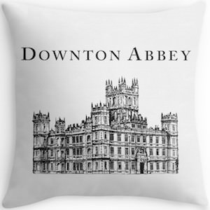 Downton Abbey Throw Pillow with Highclere Castle