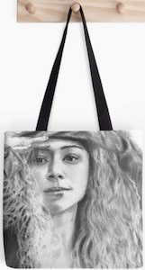 Orphan Black Helena Portrait Tote Bag