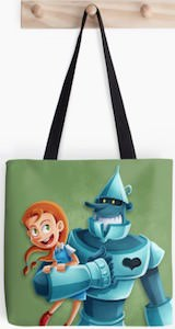 The Wizard of Oz Dorothy And Tin Man Tote Bag