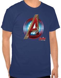 Marvel Iron Man Style Avengers Logo T-Shirt