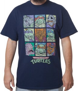 TMNT Retro Characters T-Shirt