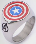 The Avengers Captain America Logo Ring