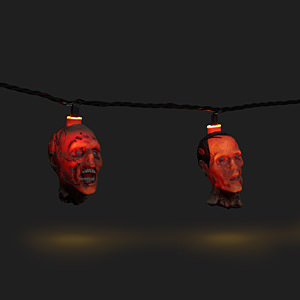 Walking Dead Walker Heads String Lights