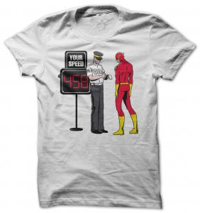 Flash Caught In A Speed Trap T-Shirt