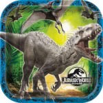 Jurassic World Large Square Dinner Plates