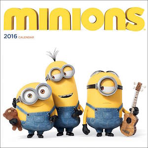 2016 Minions Wall Calendar