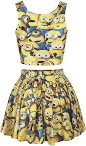Minion covered Top And Skirt