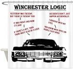 Supernatural Winchester Logic Shower Curtain