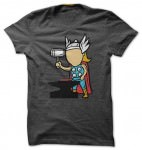 Thor Part Time Job Metal Factory T-Shirt