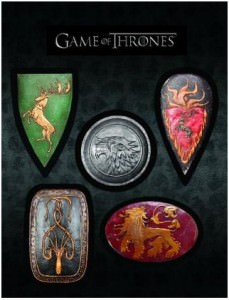 Game of Thrones House Emblems Magnet Set