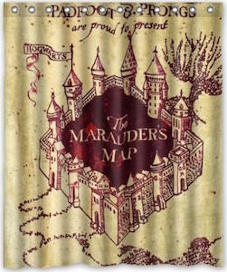 Harry Potter The Marauders Map Shower Curtain