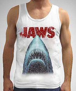 Jaws Classic Movie Poster Tank Top