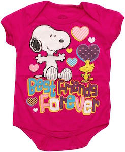Snoopy And Woodstock Best Friend Forever Baby Bodysuit