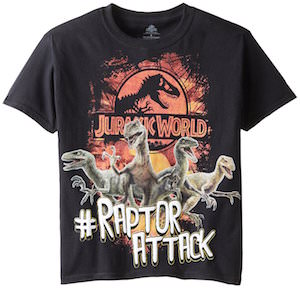 Jurassic World Raptor Attack Kids T-Shirt