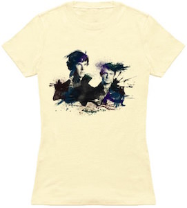 Sherlock And Watson Watercolor T-Shirt