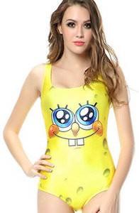 Women's SpongeBob One Piece Swimsuit