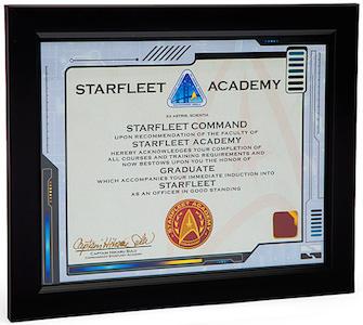 Starfleet Academy Graduate Certificate
