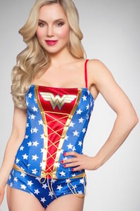 Wonder Woman Lace-Up Corset Set