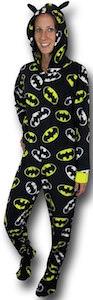Women's Batman Logo Onesie Pajama