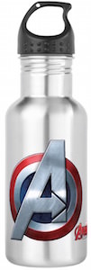 Captain America Avengers Logo Water Bottle
