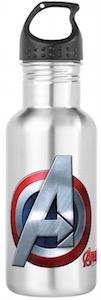 Captain America Avengers Logo Water Bottle