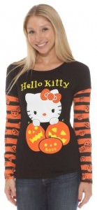 Halloween Hello Kitty Long Sleeve Shirt