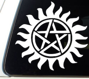 Supernatural Anti Possession Window Decal