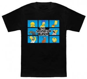 1135285c The Simpsons Springfield Bunch T-Shirt