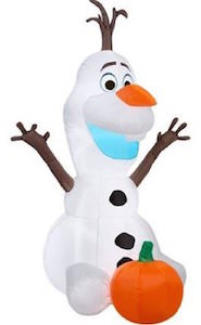 Frozen Halloween Olaf Outdoor Inflatable Decoration