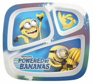 Minions Banana 3 Section Plate