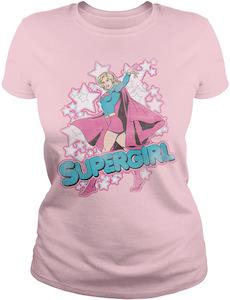 DC Comics Women's Pink Supergirl T-Shirt